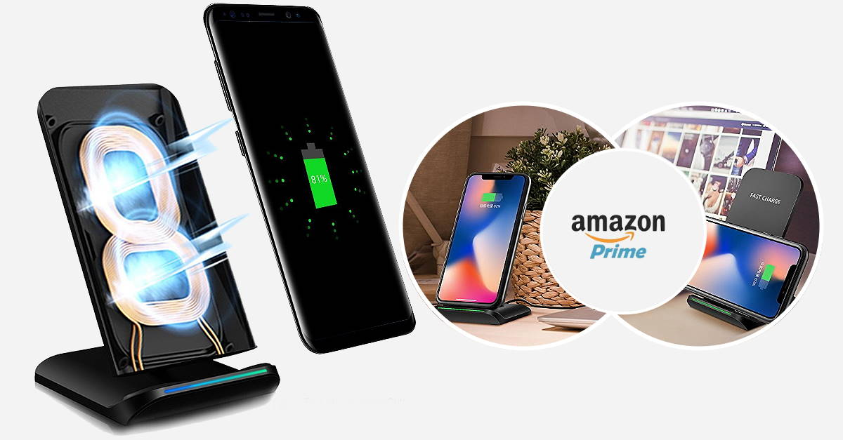 Wireless Charger Online iPhone X-8-8s-Samsung India